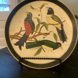 Beautiful Birds Decorative plate & Stand